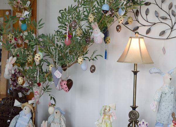 árvore decorada de páscoa