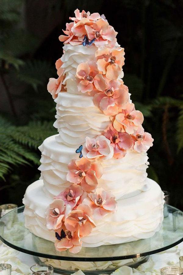 bolo casamento living coral