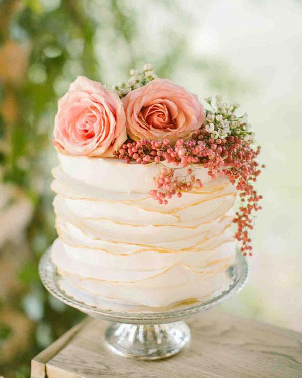 bolo de casamento coral