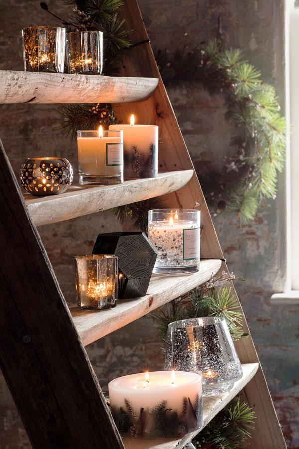 velas na decoração hygge
