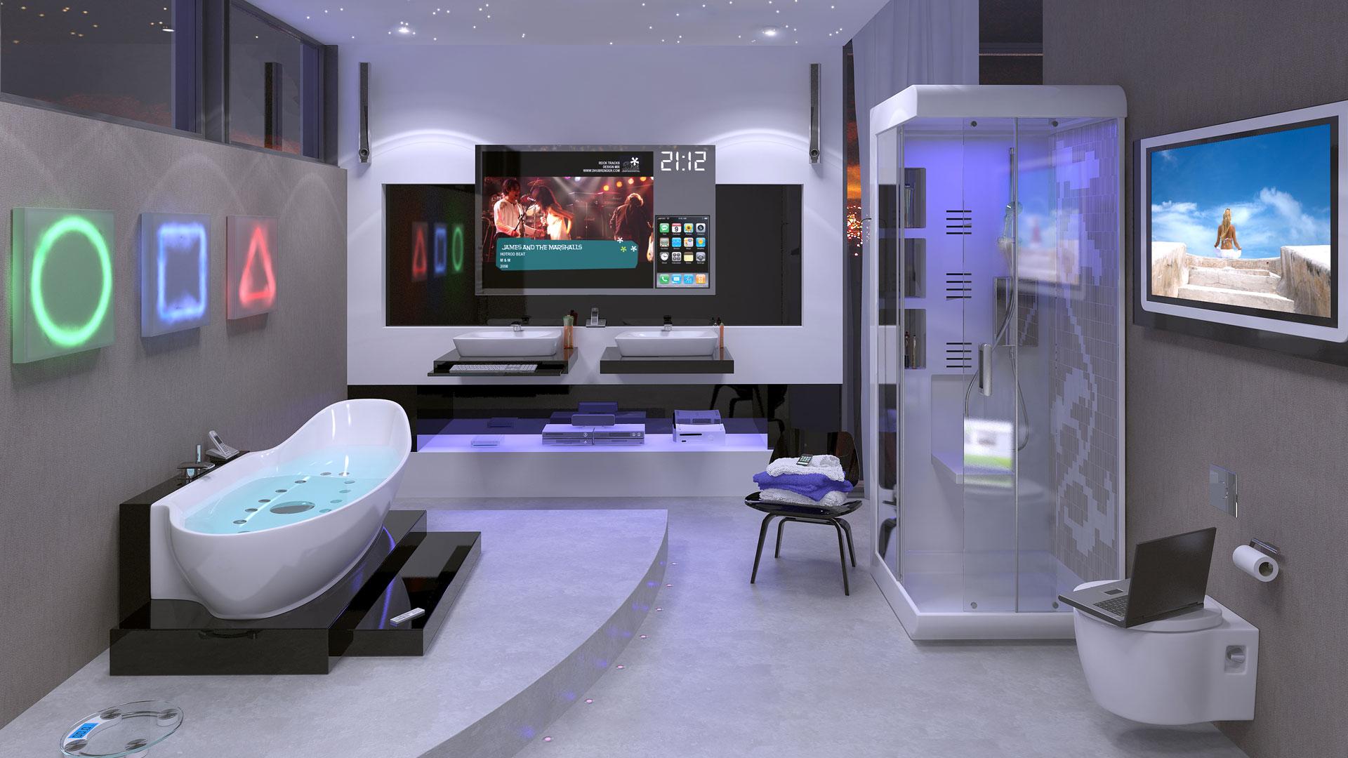design decoração futurista
