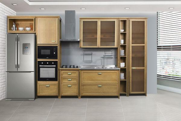 disposição dos móveis na cozinha