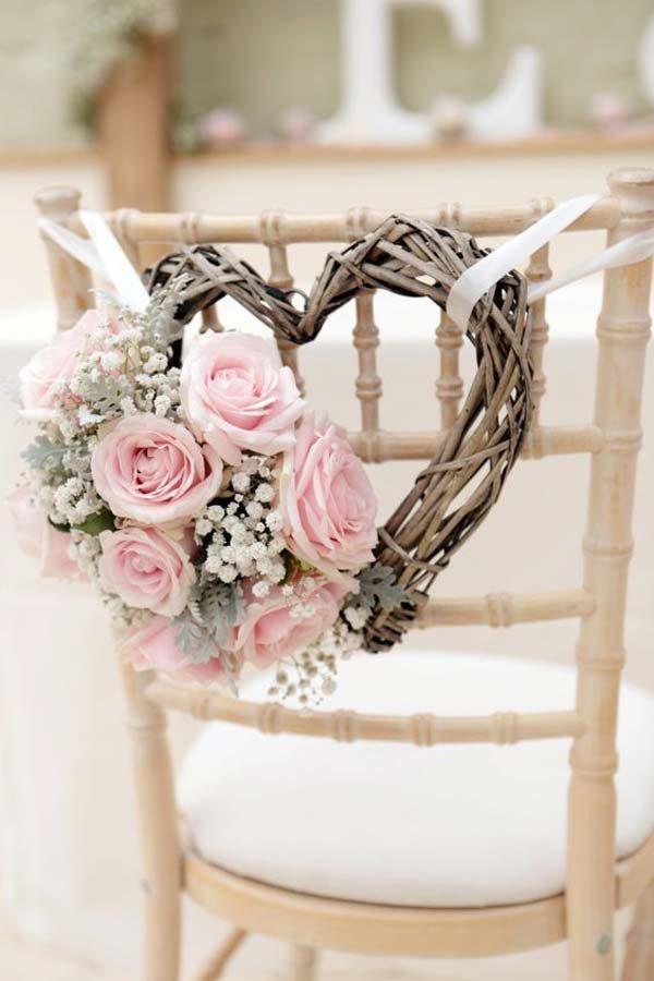guirlanda em forma de coração para casamento