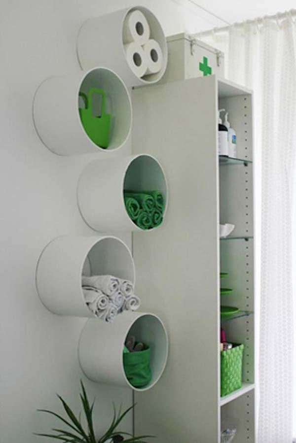 cano de PVC na decoração reciclável