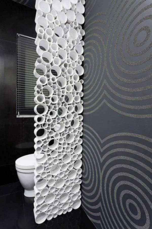 decoração reciclável com cano de PVC