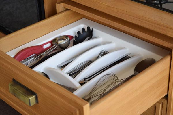 divisória para melhor organização da cozinha
