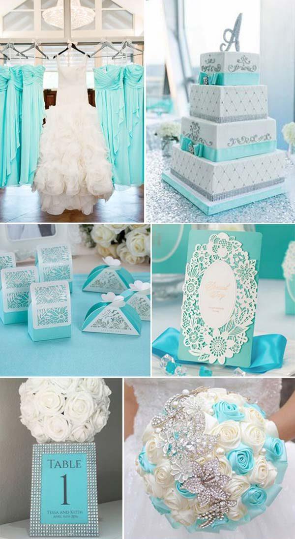 turquesa na decoração de casamento