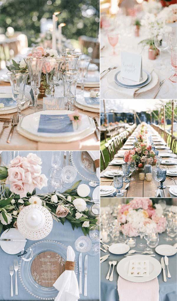 cores pastéis na decoração de casamento