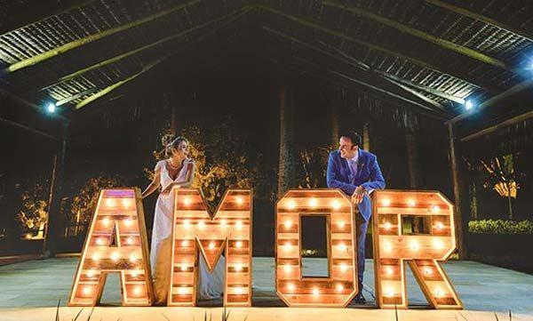 luminárias no casamento