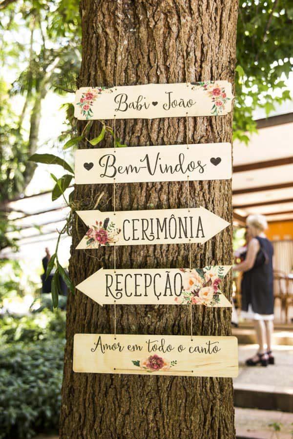 plaquinhas de madeira tendência de casamentos