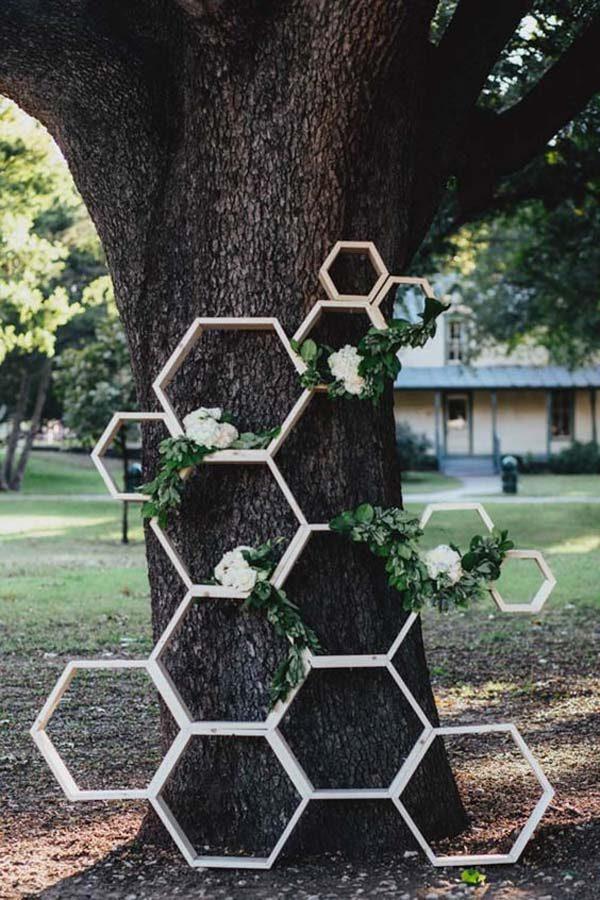 decoração geométrica no casamento