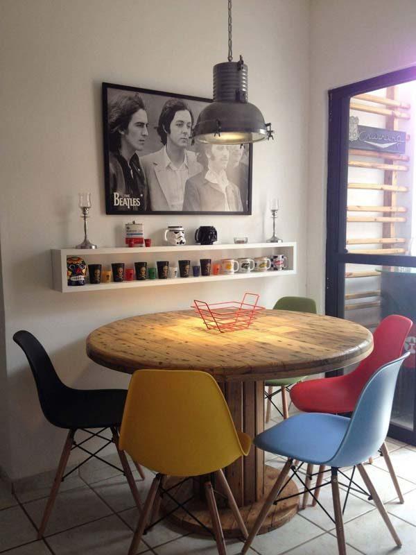 mesa de carretel