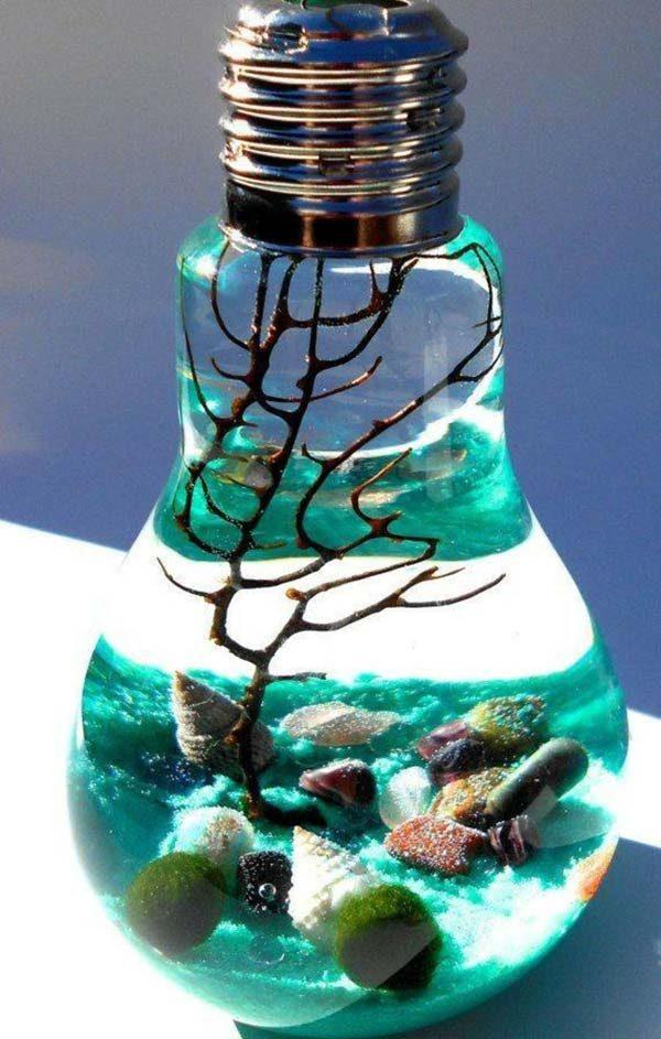aquário na lâmpada