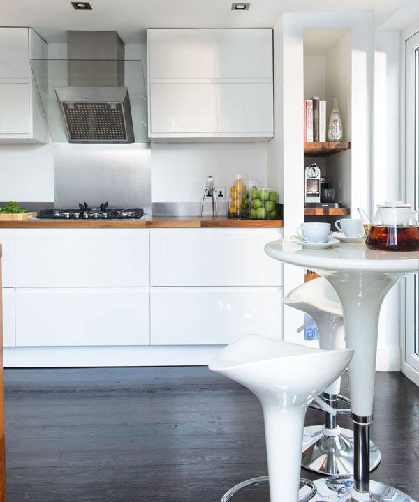como fazer a cozinha parecer maior