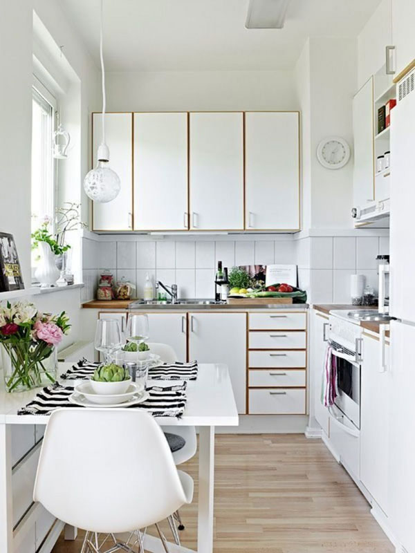 cores claras na cozinha