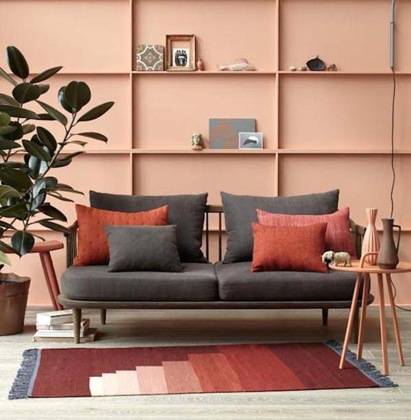 sala de estar no estilo feng shui