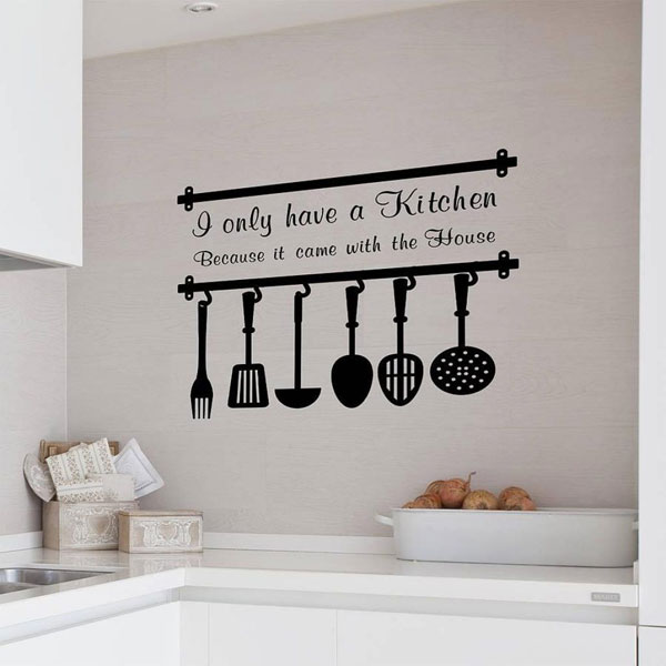 adesivo de parede na cozinha
