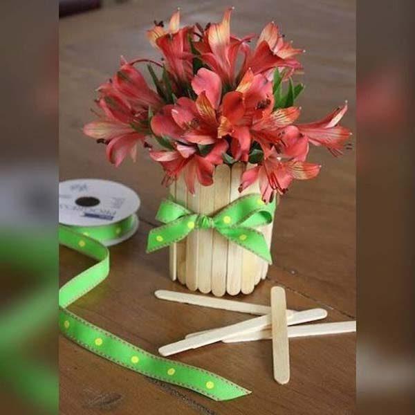 decoração reciclável com palito de picolé