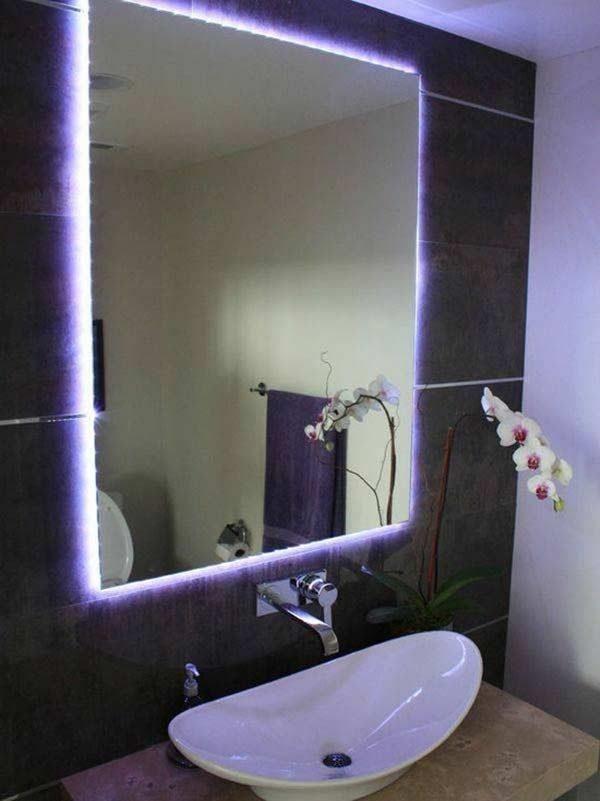 banheiro decoração neon