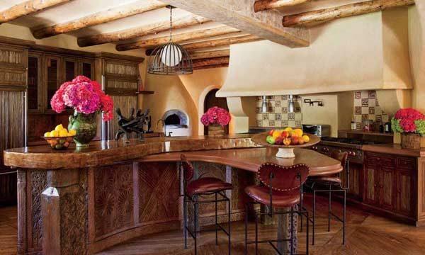 cozinha rústica mansão de famosos