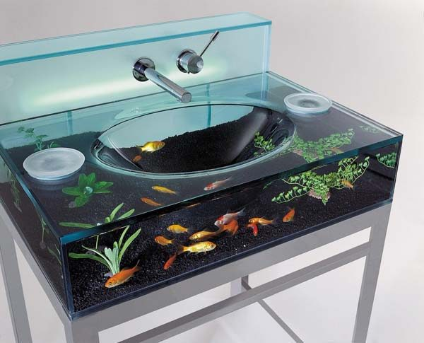 lavatório de aquário