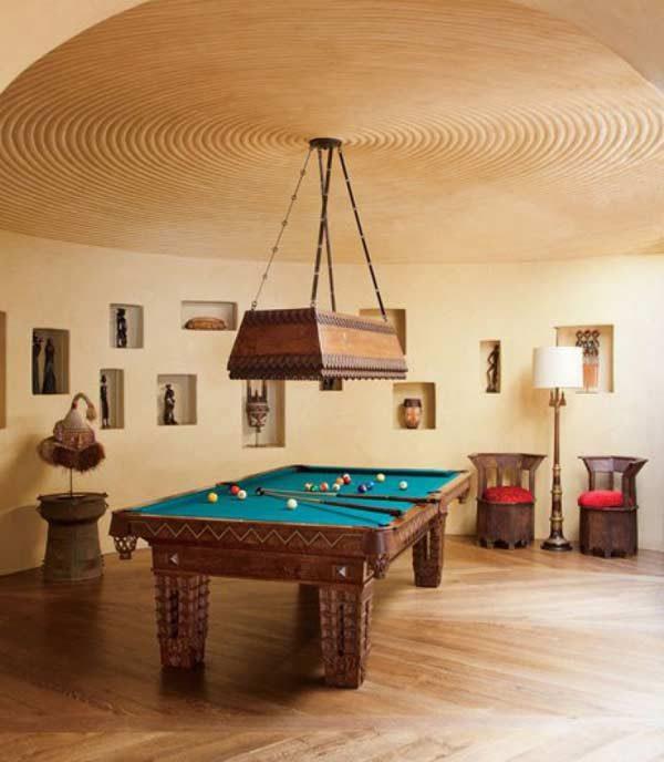 sala de jogos na mansão