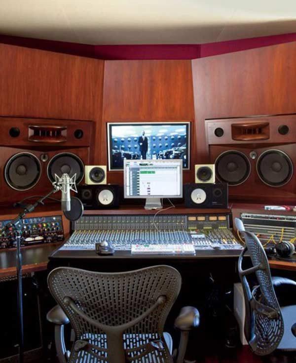 estúdio na casa de Will Smith