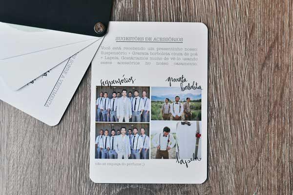convite dos padrinhos de casamento de Débora e Fernando