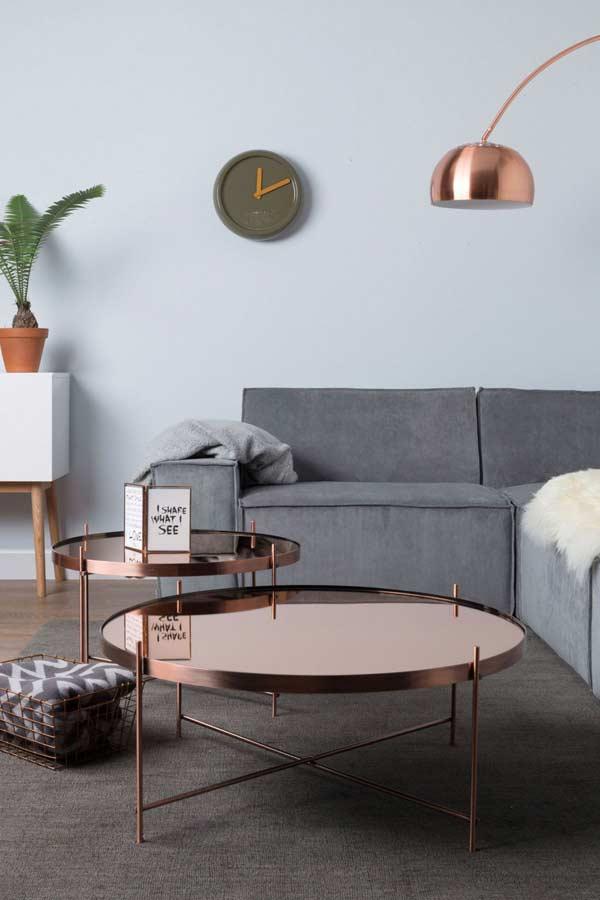 mobília em rose gold