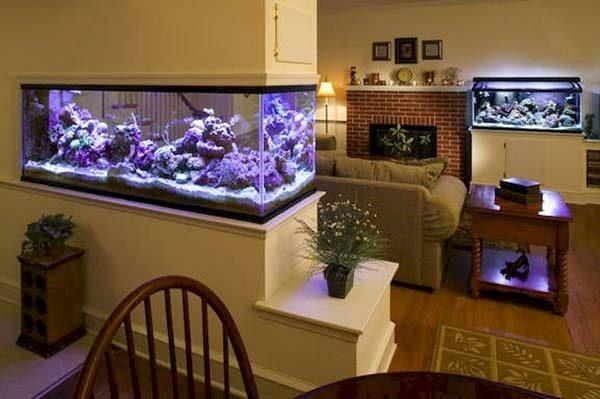 aquário na decoração da casa