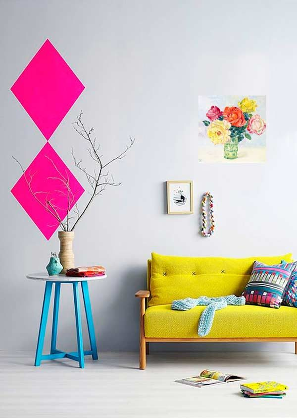 sala mobília neon