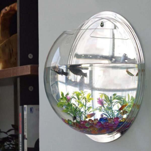 aquário fixo na parede