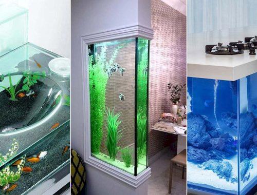 aquário na decoração
