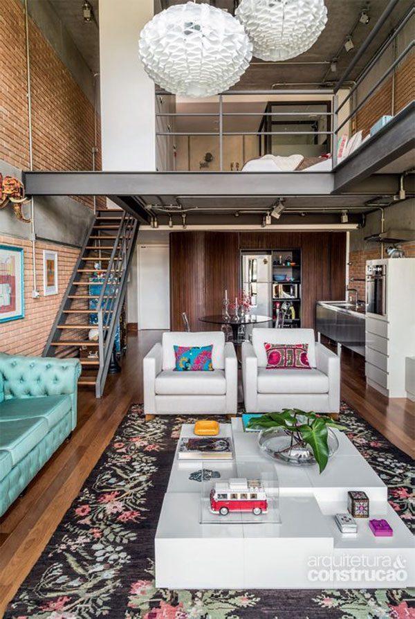 espaço moradia em lofts