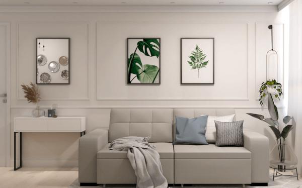 Aparador na decoração da sala de estar