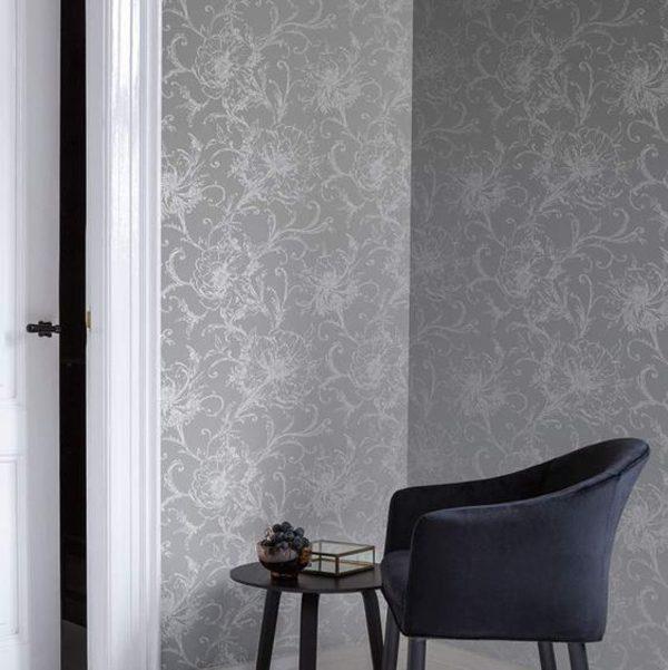 papel de parede prata