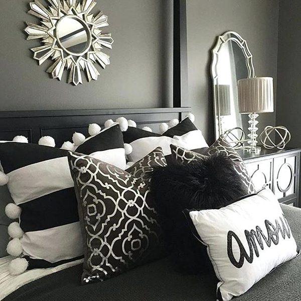 branco e prata na decoração