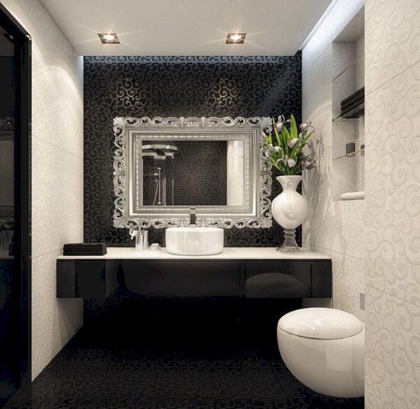 preto e prata na decoração
