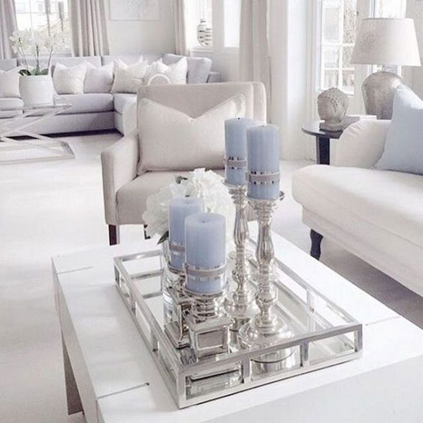 objetos decorativos prata