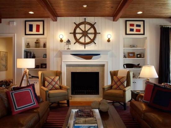 decoração estilo navy