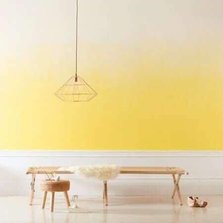 pintura parede degradê amarelo