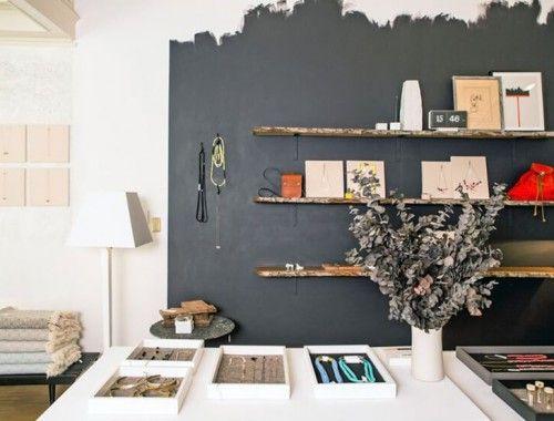 pinceladas cinza parede