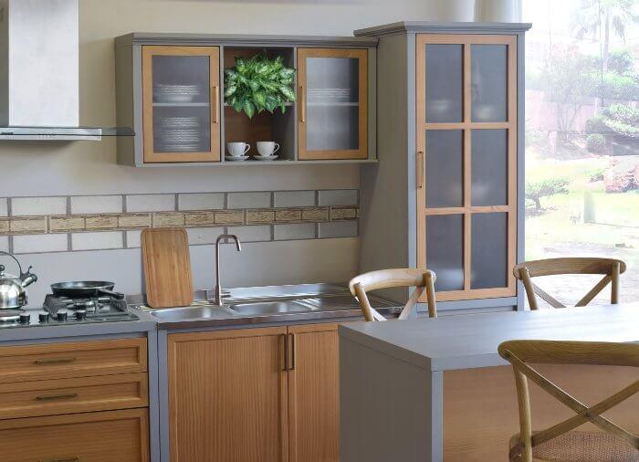 cozinha rústica contemporânea