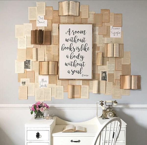 parede com livros
