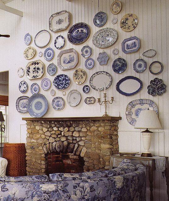 gallerywall parede de pratos
