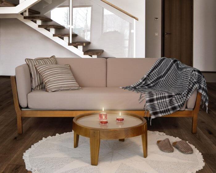 sala de estar rústica contemporânea