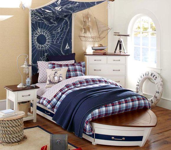 estilo navy no quarto