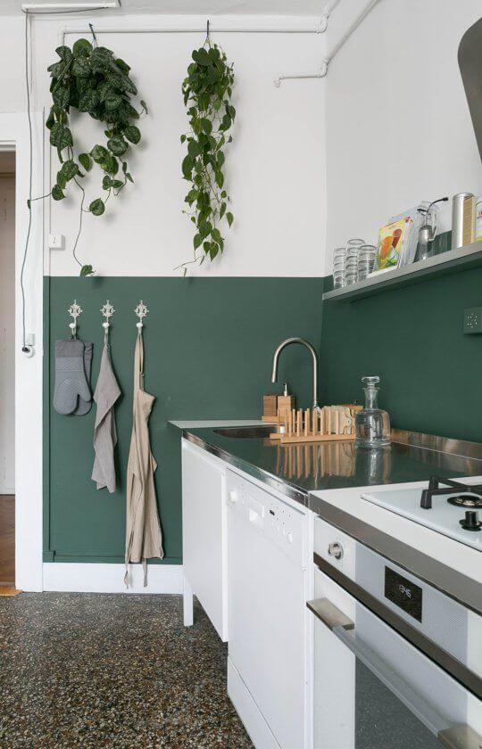 meia parede verde
