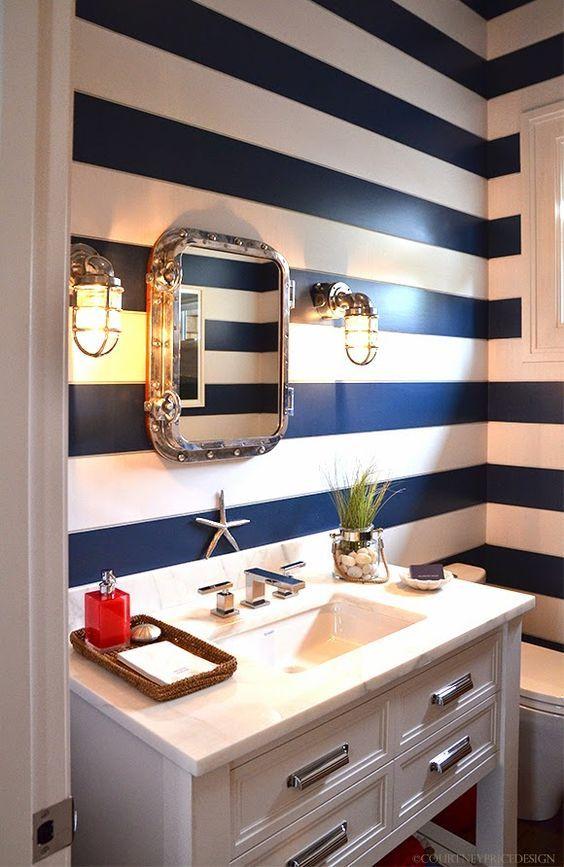 estilo navy no banheiro