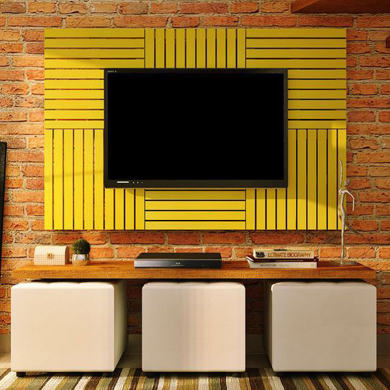 painel para tv com palete